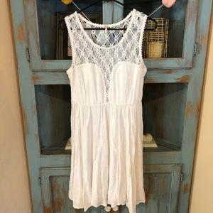 White free people dress size medium